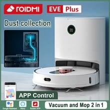 Roidmi eve mais robô aspirador de pó casa inteligente app contron suporte assistente alexa mi casa chão limpeza robô coleção poeira