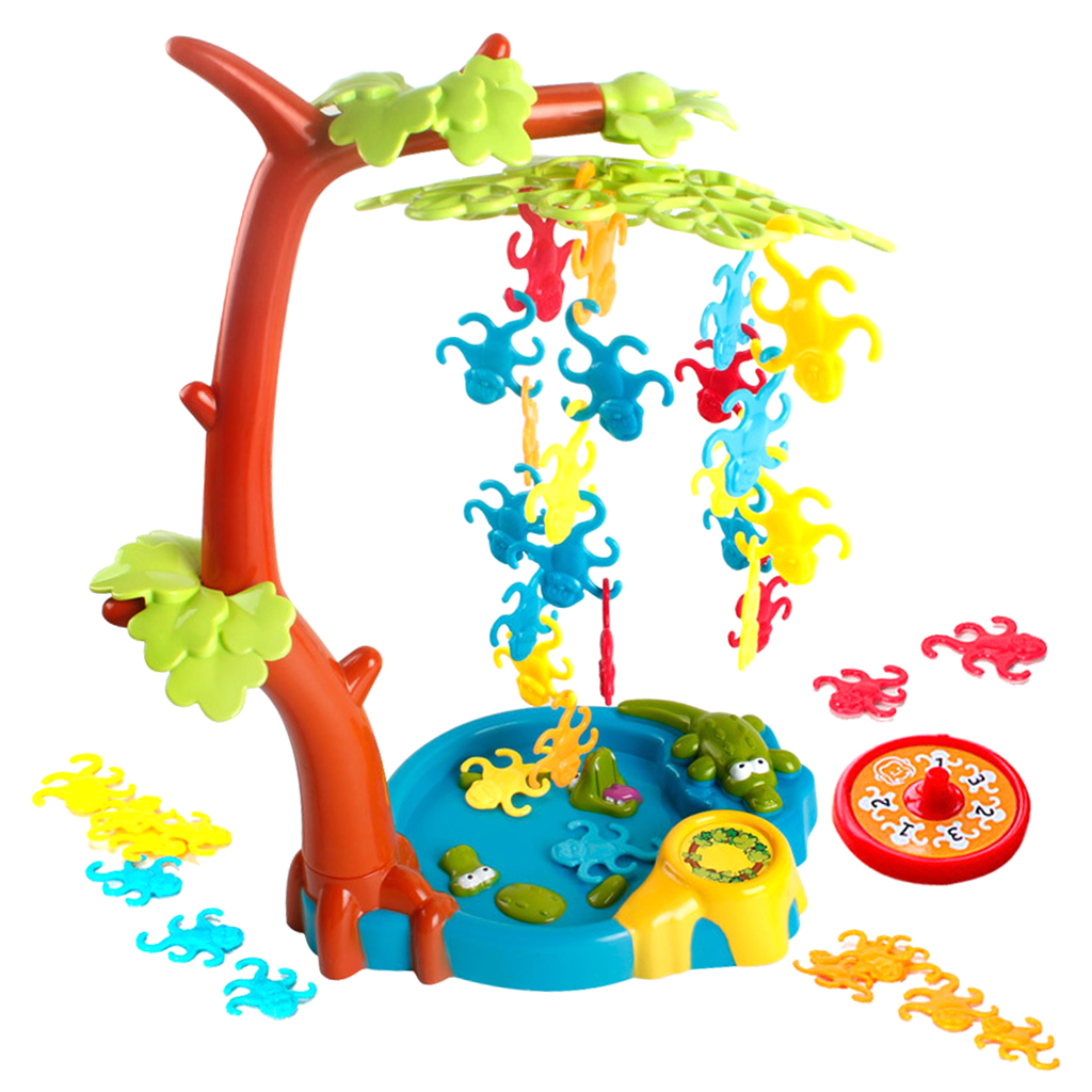 Rotate Lucky Turntable & Hanger Monkeys Kids Board Game Intelligence Toy New