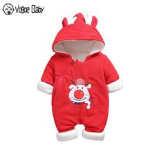 Autumn Winter coat Jumpsuit Baby clothing 2019 Newborn Snowsuit Boy Warm Romper