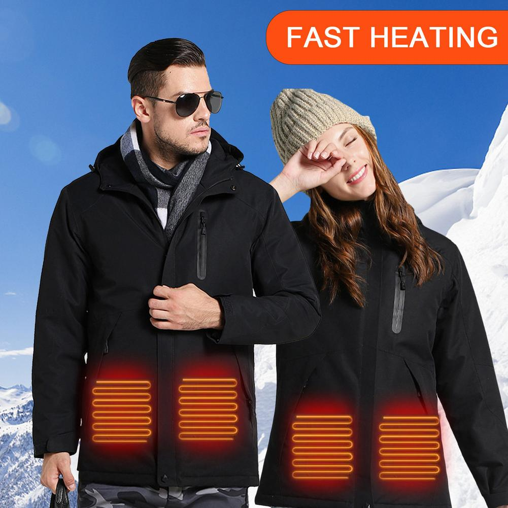 USB Charging And Heating Outdoor Jacket Waterproof Heating Jacket Ski Suit Mountaineering Clothes Heated Jacket