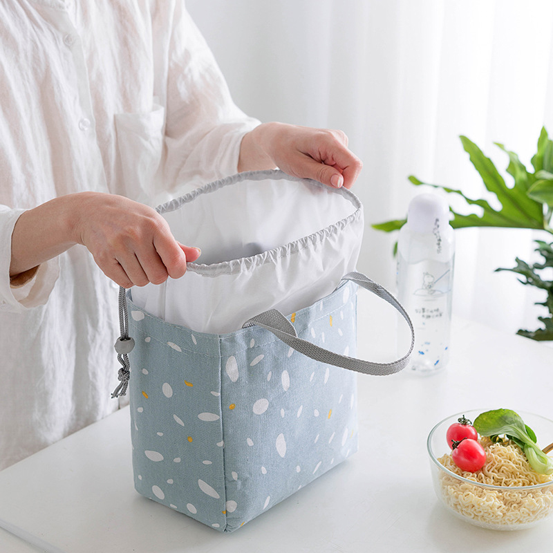 Portable Lunch Bag Personlity Printing Food Storage Bag Insulated Picnic Carry Case Thermal Lunch Box For Travel Lunch Container
