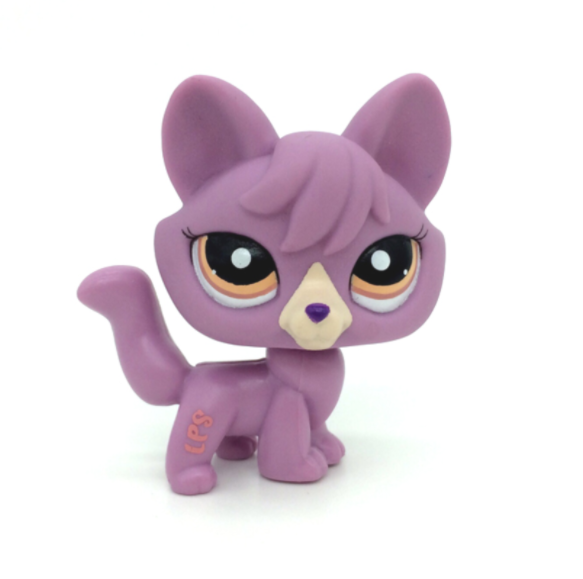 New LPS Pet Shop Toys Standing Felina Meow Short Hair Cat With White Heart Green Eyes Real Anime Figure Toys For Children