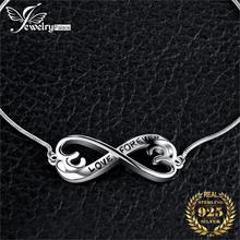 Infinity Love Bracelet Silver Bolo Bangles 925 Sterling Bracelets For Women Jewelry Making