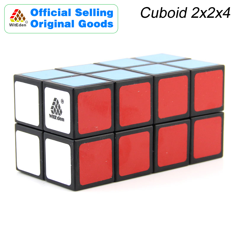 WitEden 2x2x4 Cuboid Magic Cube 224 Cubo Magico Professional Speed Neo Cube Puzzle Kostka Antistress Toys For Children