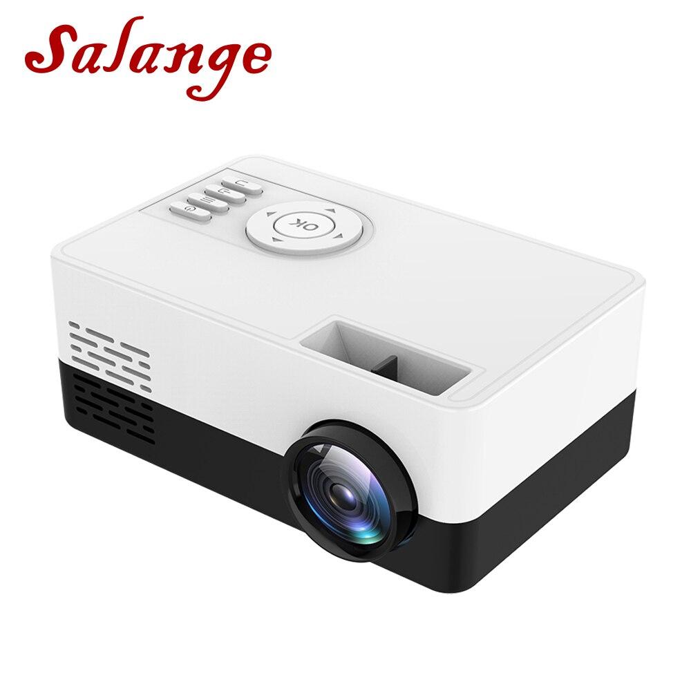 Salange мини-проектор J15, 320*240 пикселей поддерживает 1080P HDMI USB мини-проектор домашний медиаплеер детский подарок
