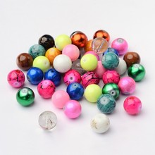 4/6/8/10/12/14mm,Mixed Style & Mixed Color Round Spray Painted Glass Beads, Mixed Color  hole: 1.5mm; about 200pcs/bag. 1box mixed style round glass pearl beads mixed color crafts jewelry diy maker supplies hot sale