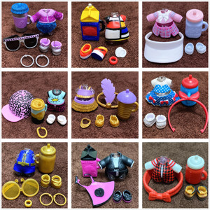 L.O.L. SURPRISE! NEW Come 1 Set Original Clothes Shoes Bottles Accessories Dress Suit for LOL 8 cm Big Sister Dolls Kid Gift Toy(China)