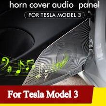 Автомобильный Стайлинг для tesla model 3 audio speaker cover