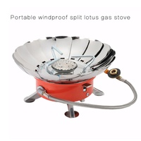 Windproof Stove Cooker Cookware Gas Burners For Camping Picnic Cookout BBQ With Extended Pipe Outdoor Gas Stove Furnace Newest|Outdoor Tools| |  -