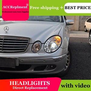 Image 2 - For Benz W211 2003 2009 Headlights All LED Headlight DRL Dynamic Signal Hid Head Lamp Bi Xenon Beam Accessories Car Styling