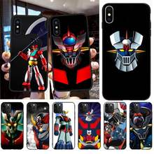 Cutewanan Mazinger Z Zachte Siliconen Zwarte Telefoon Case Voor Iphone 11 Pro Xs Max 8 7 6 6S Plus X 5S Se 2020 Xr Case(China)