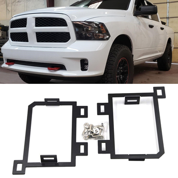 Fog Lamp Mount Brackets for 3 inches LED Light Cubes Fits 2013-2019 Dodge Ram 1500 and 2019 Ram 1500 Classic