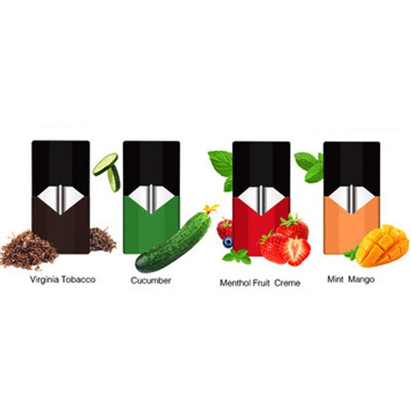 20Pcs Electronic Cigarettes Vape Cartridge Pods 0.7ml Capacity E Cigs Juul Pod For E Cigarette Vape Battery Device Starter Kits