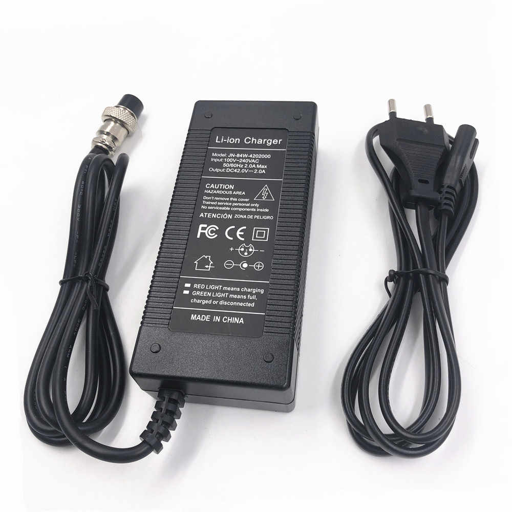 36V 4A Battery Charger Electric Bike Scooter Battery Charger42.0V Lithium Battery Pack Plug Power Cable Size : A
