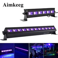 6LED 9LED 12LED Disko UV Siyah Işıkları DJ 36 W Par Lamba UV Parti Noel bar ışığı Lazer Sahne Işık UV duvar Yıkama Spot