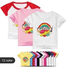 New Summer Children Short Sleeves T-Shirts For Boys Girls Cartoon Me Contro Te Print