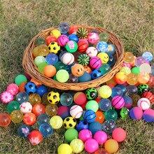 20 pçs de borracha pequena saltando bola anti stress bolas ao ar livre jogos crianças água jogar brinquedos banho brinquedo educativo para crianças