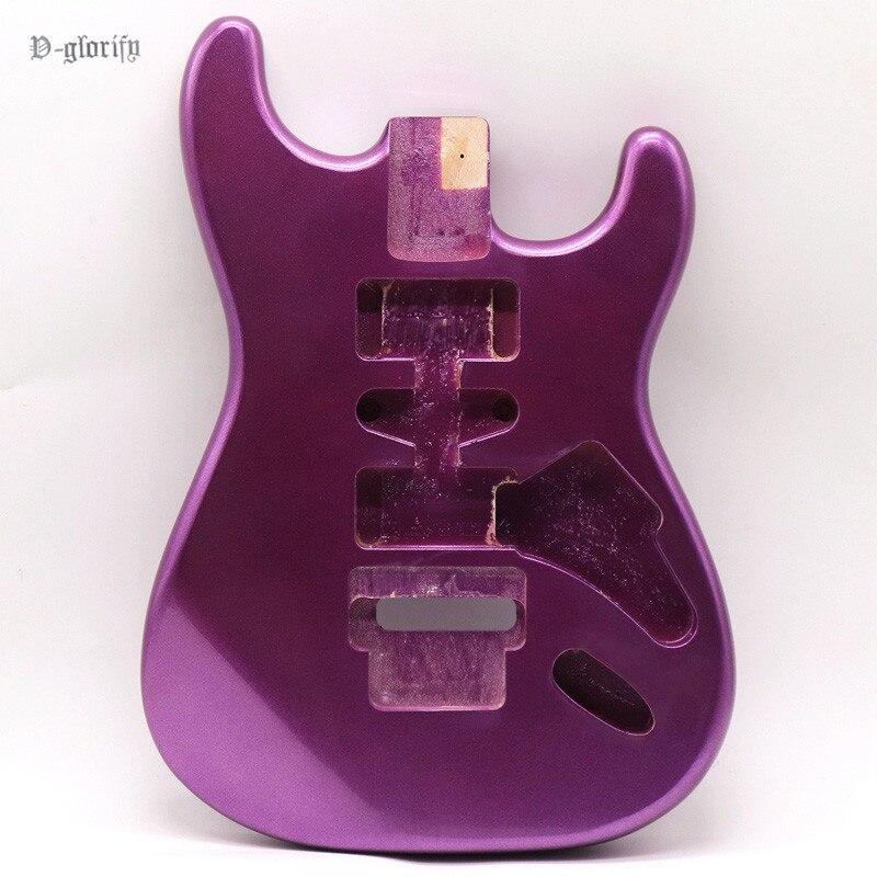 1 pièce acajou bois métallique couleur pourpre ST guitare corps pour 24 frettes guitare corps guitare baril remplacement guitarra pièces