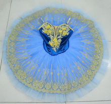 Blue swan lake ballet tutu platter sugar plum fairy professional pancake blue bird For performance Flower girl
