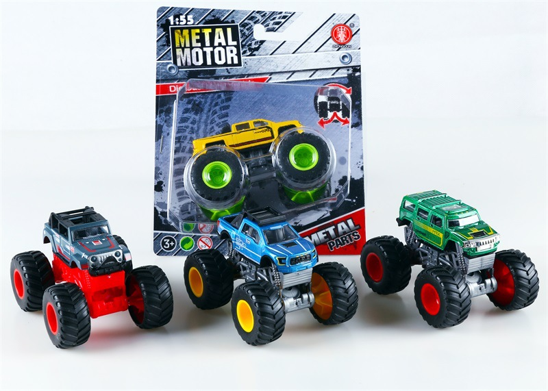 Children Four-Wheel Drive Off-road Climbing Car Model Graffiti Monster Truck Off-road Car Model CHILDREN'S Toy Hot Selling