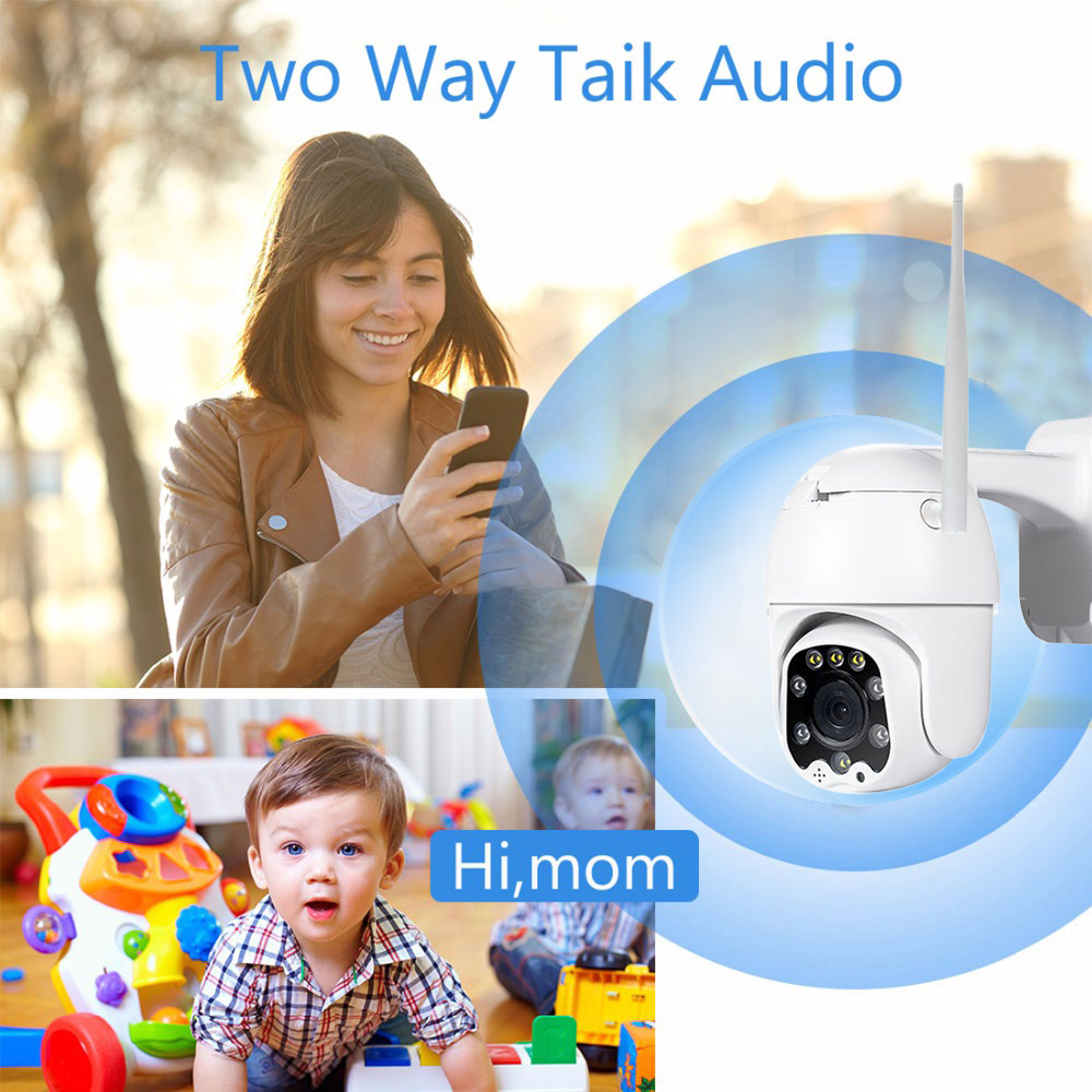 Image 5 - 2MP 3MP 5MP Wireless PTZ Speed Dome CCTV Security  IP Camera  4X zoom Outdoor ONVIF Two Way Audio P2P Camera WIFI Camhi-in Surveillance Cameras from Security & Protection