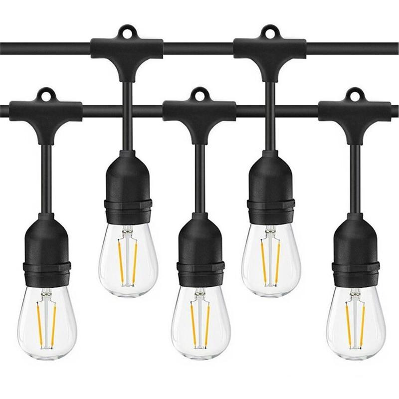 RAYWAY Edison Christmas Retro Lights Street Garden Patio Lamp 15M E27 S14 7W LED String Outdoor Waterproof Holiday Lighting