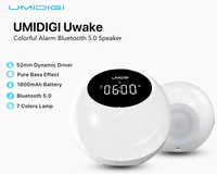 UMIDIGI Uwake Wireless Bluetooth Speaker Portable Loudspeaker LED Light Speaker Sound System Music Surround Outdoor Alarm Clock