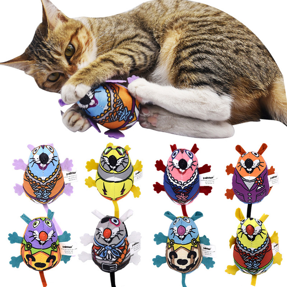 Pet Cat Toy Natural Catnip Pet Cat Matatabi Bell Sound Cat Toy Cat Supplies Vocal Cat Mint Colorful Rat Plush Mouse Dropshipping