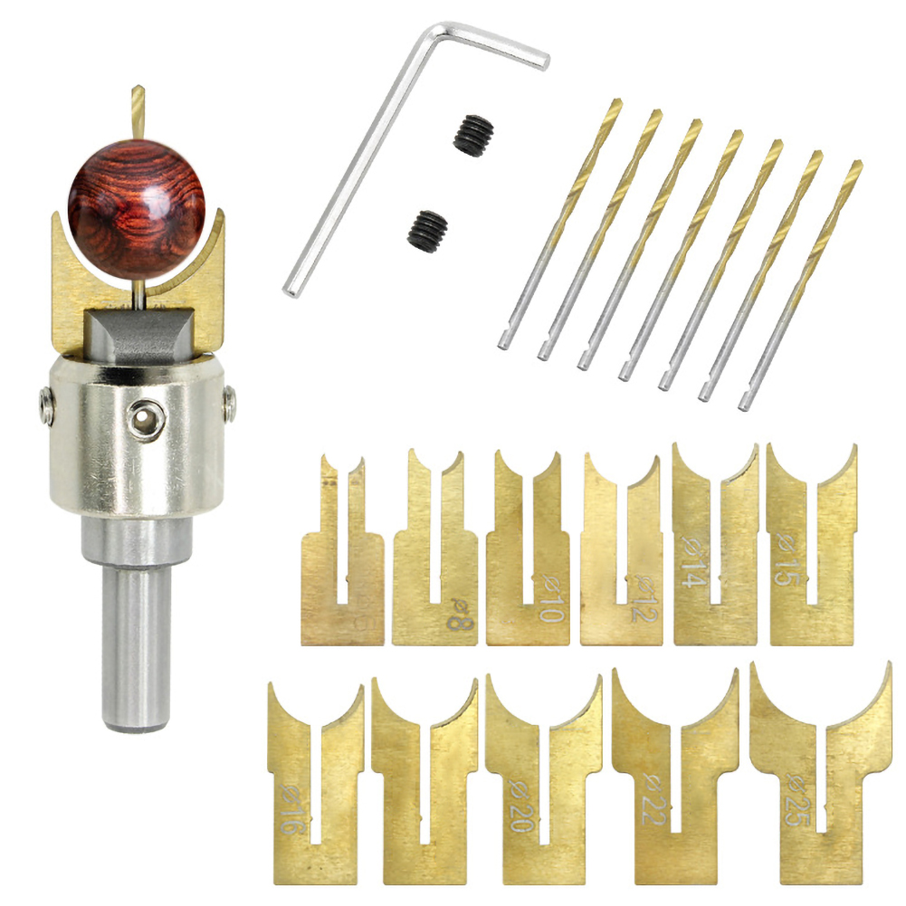 13Pcs Milling Cutter Wooden Beads Drills Bit 6-12mm Router Bit Ball Blade Drill Bits Woodworking Tools For DIY Handicrafts