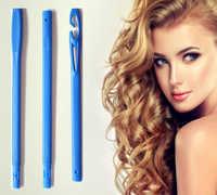 40 stücke/65 cm Magic Hair Roller Spirale DIY Haar Curlers Weiches Haar Curler Rollen Für Curling Haar Kunststoff rollen