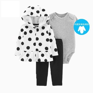 Image 2 - BABY GIRL CLOTHES long sleeve hooded coat+bodysuit cotton+pants newborn boy set winter fall infant clothing 2020 new born outfit