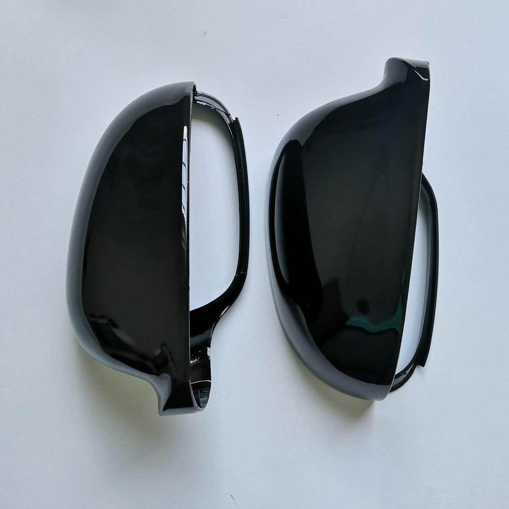 Черная боковая крышка зеркала для Volkswagen Golf MK5 GTI Jetta 5 Passat B6 B5.5 Sharan Golf Plus Variant EOS 2005 2006 2007