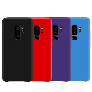 for Samsung S9 Case Original Silicone Soft Protection Cover for Samsung Galaxy S8 S9 S10 5G Plus S10e Note 10 Plus 9 8 Case