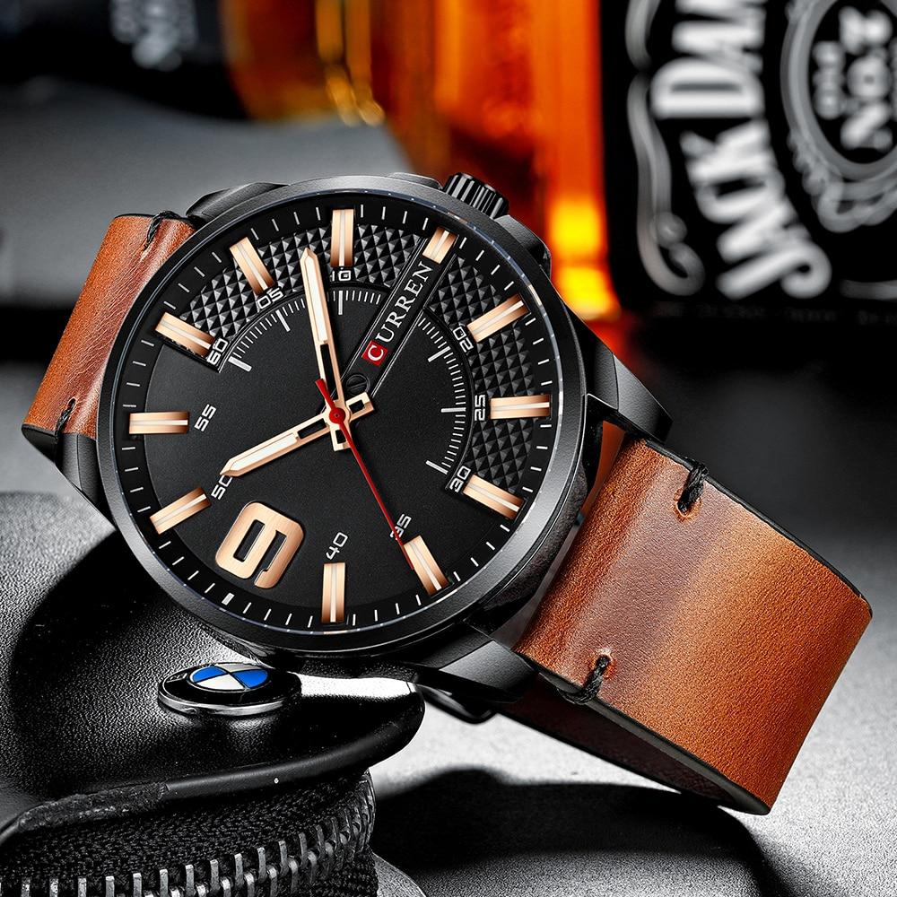 Hb7a2a18f6a554e4891569a53a4bced02G Top Brand Luxury Business Watch Men CURREN Watches