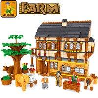 Toys for boys AUSINI 28002 Ausini Medieval Happy Farm Building Blocks Sets 838 Pcs Educational Construction Brick