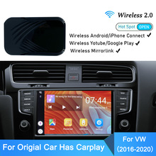 Tv per Auto Wireless MirrorLink Carplay Dongle Auto per VW Apple Android Video Carplay intrattenimento Car Multimedia Player 2 + 32G