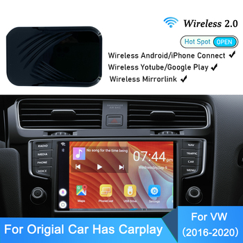 Tv For Car Wireless MirrorLink Carplay Dongle Auto VW Apple Android Video Entertainment Multimedia Player 2+32G