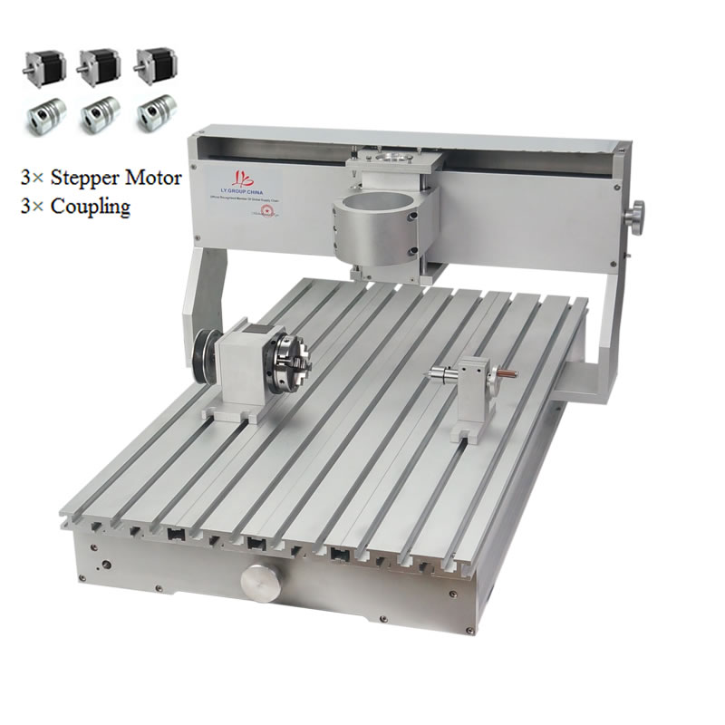 CNC 6040 Frame 4th Axis Aluminum Alloy DIY Kit For Metal Woodworking Machinery Engraver With Stepper Motors And Free TB6600
