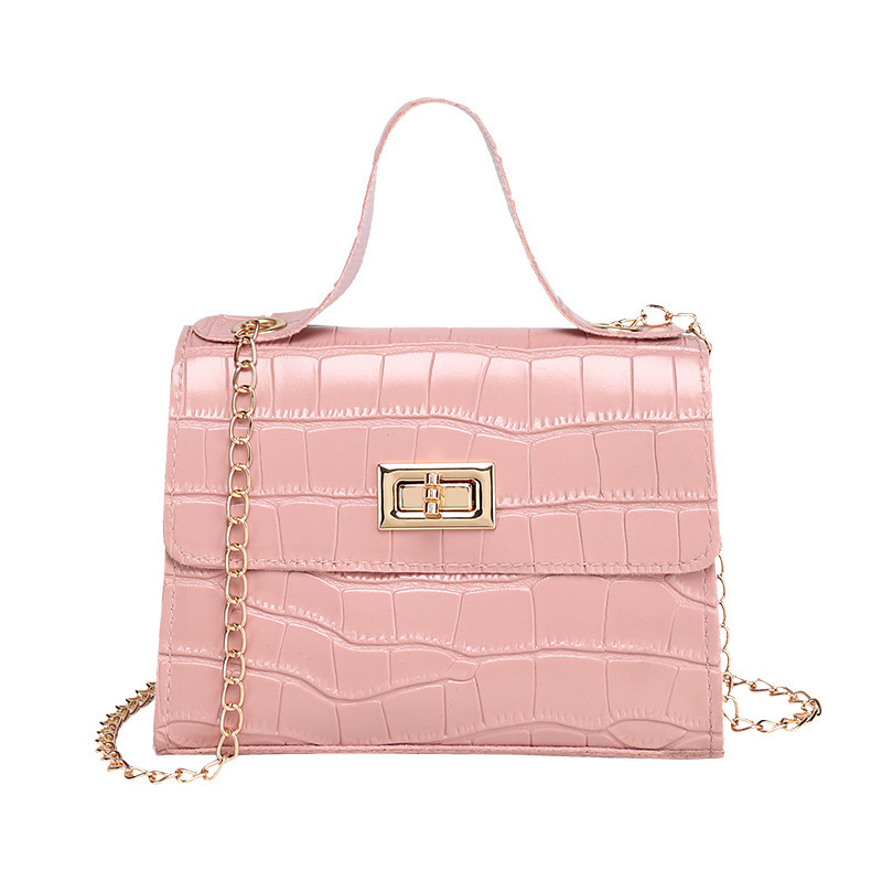 2020 Summer Women Shoulder Bag Chain Messager Crossbody Bag Tide Mini Small Package PU Leather Sweet Lady Mobile Phone Bag