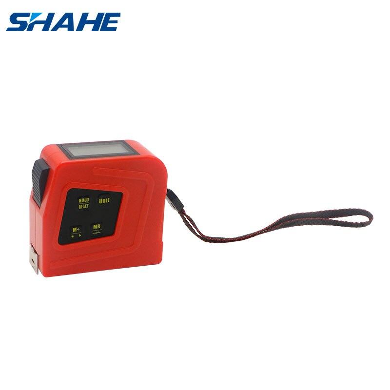 Цифровая измерительная лента Shahe 2 в 1, измерительная лента с ЖК-дисплеем, расстояние 5 м