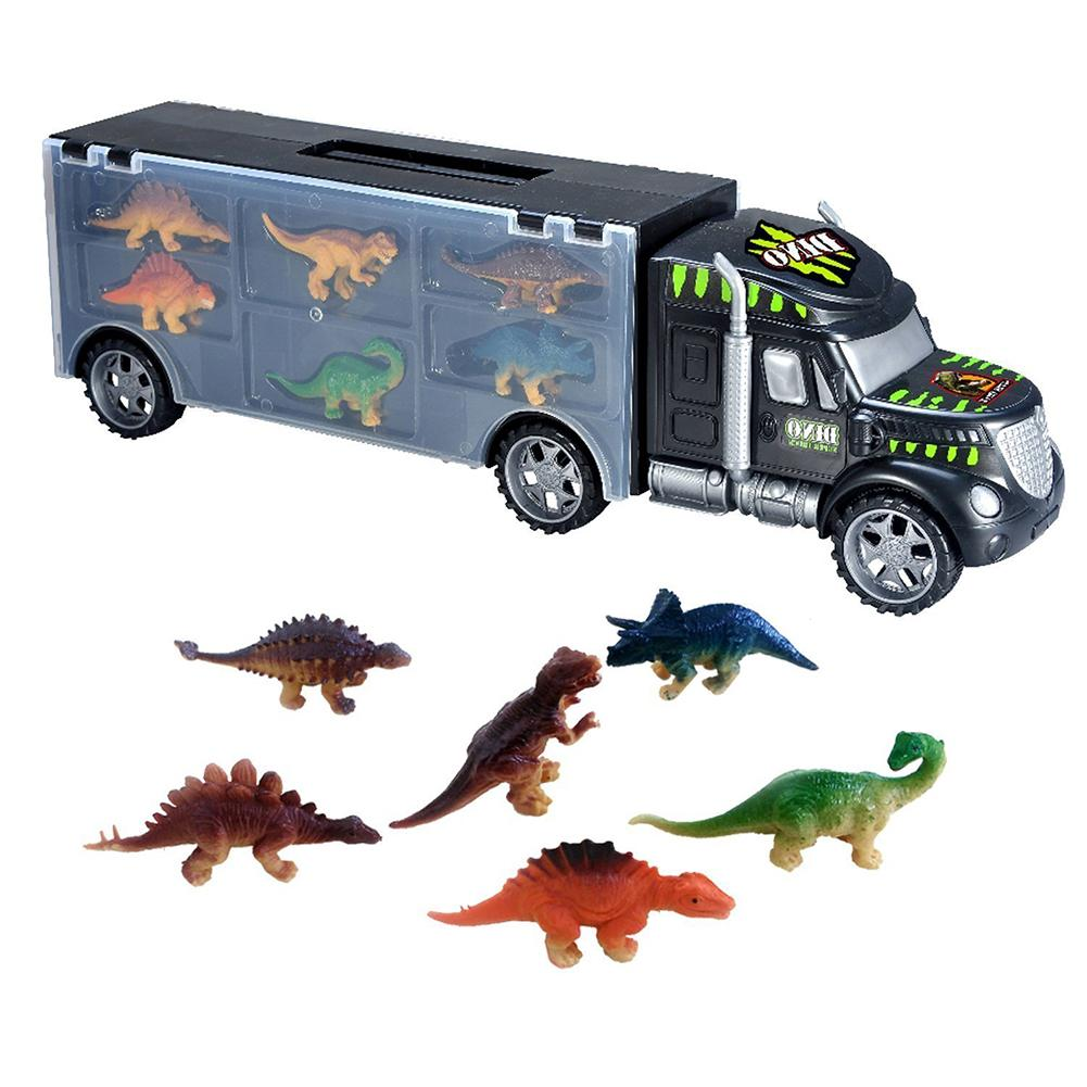 Simulation Dinosaur Model Transport Car Carrier Truck Educational Kids Toys