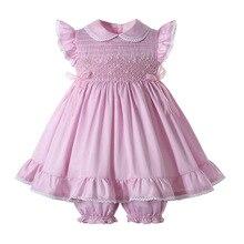 Юбка-пачка для новорожденных со сборками для маленьких девочек вечерние платья, комплект одежды, 2 в 1 год для малышей на день рождения ручно...