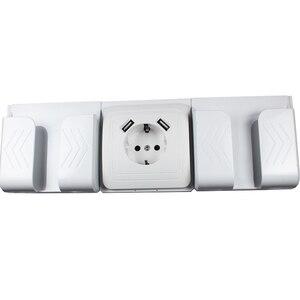 Image 5 - 2019 neue stil USB Steckdose Kostenloser versand Doppel USB Port 5V 2A pared outlet electrique outlet usb murale steckdose FB 01