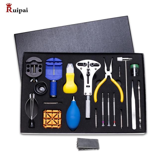 Ruipai 39 pçs ferramentas de relógio abridor de relógio primavera barra removedor chave de fenda relógio ferramenta de reparo kit relojoeiro serviço