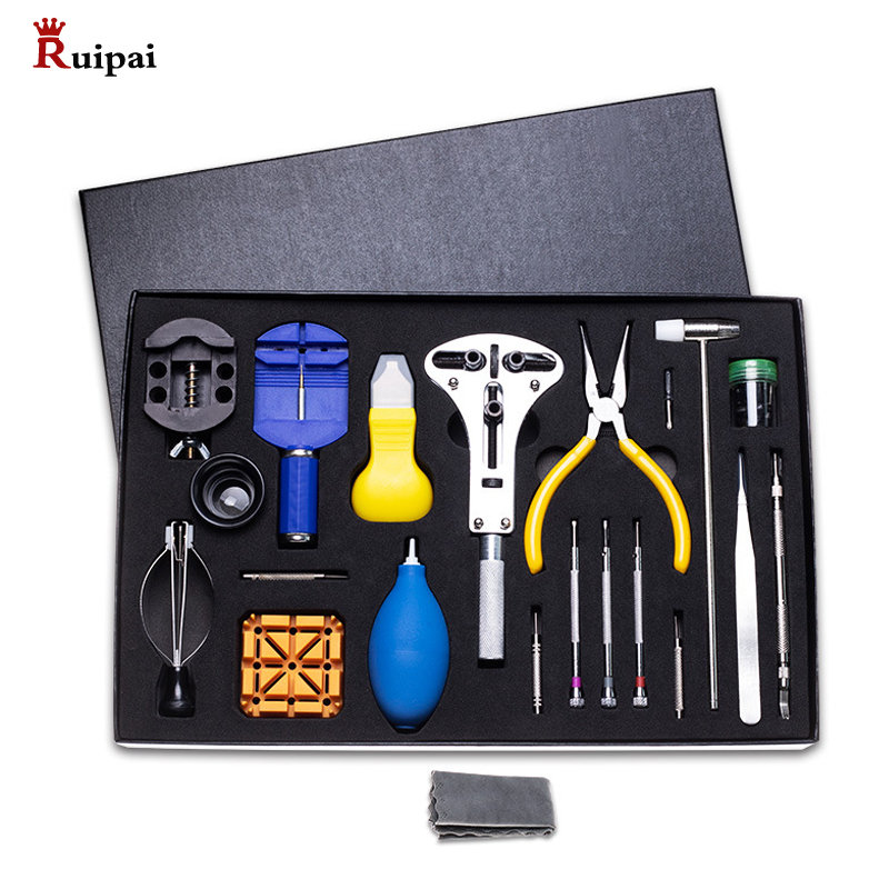 RUIPAI  39pcs  Watch Tools Watch Opener  Spring Bar Remover Screwdriver Clock Watch Repair Tool Kit Watchmaker Service