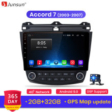 Junsun V1 2G + 32G Android 8,1 4G coche Radio reproductor Multimedia para Honda Accord 7 2003-2007 GPS de navegación de 2 din no dvd(China)