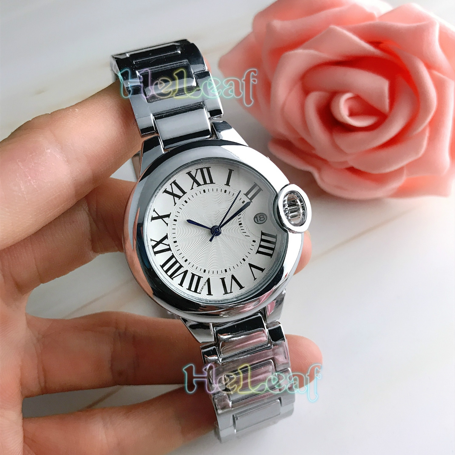 Fashion Silver Gold Stainless Brand Watch Quartz Wrist Watches Ladies Girls Famous Female Clock Montre Femme Reloj