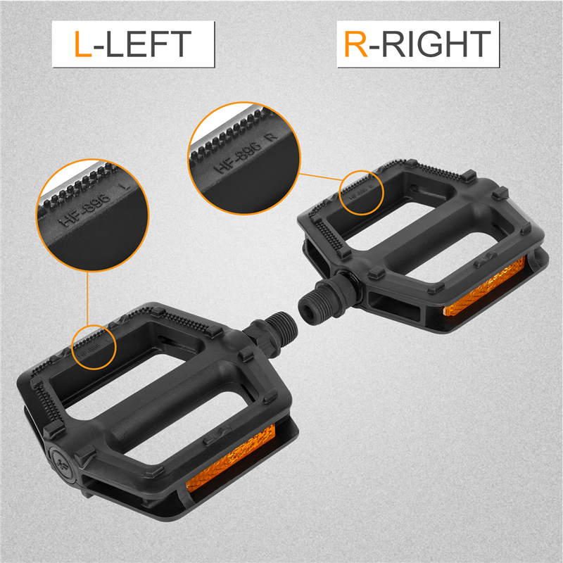 1 Pair Portable MTB Bike Bicycle Pedals Plastic Road Bike Double DU Pedals Cycli