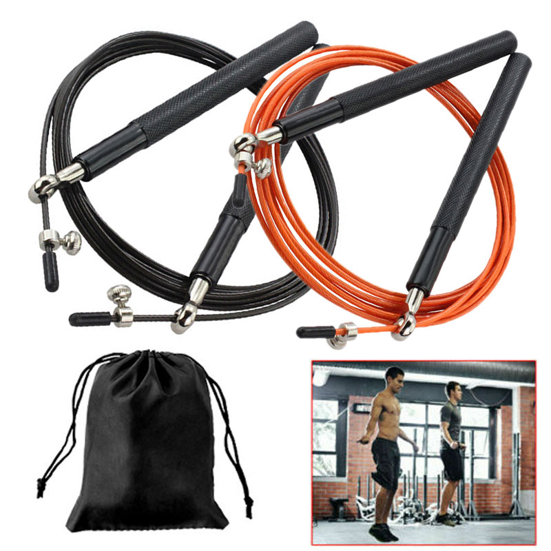 3m Aluminum Skid Speed Skipping Rope Adjustable Steel Cable Fitness Exercise Fitness Training Professional Jumping Rope(China)