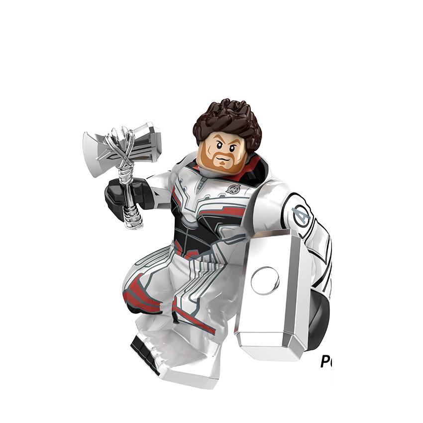 Legoing Marvel vengadores Iron man Thanos Thor Spider man Hulk Antman Venom figuras superhéroes bloques de construcción de juguetes para niños